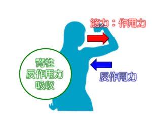 作用反作用の法則 イメージ
