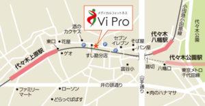 ViPro周辺地図