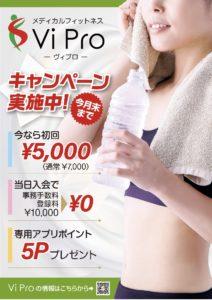 メディカルフィットネスViPro キャンペーンポスター