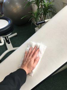 トレーニング器具の消毒